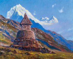 タムセルクと仏塔